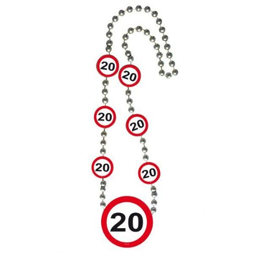 Traffic Sign 20th Party Necklace Birthday Novelty Gift Favour Favor Lanyard